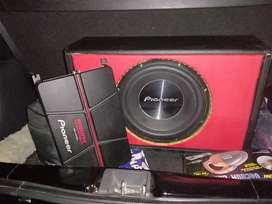 Power pioneer GM a6704 4ch & Subwofer pioneer 12 inch lengkap dgn box