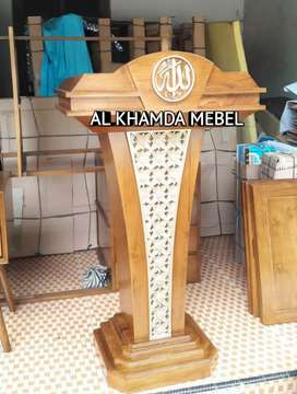 Ready Mimbar Masjid Tinggal kirim bahan kayu jati