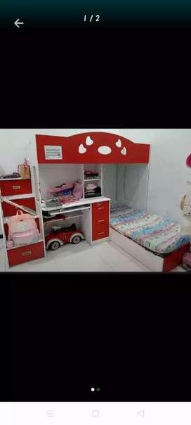 Informa Ranjang Anak Susun+Bed Latex Atas Bawah Baguss