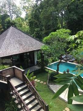 Dijual Villa 10 are 3 lantai Pantai Nyanyi View Sungai, dekat Canggu