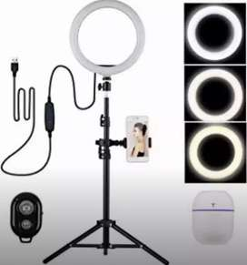 Quality led 26cm Ring light with 2.1 metre tripod stand