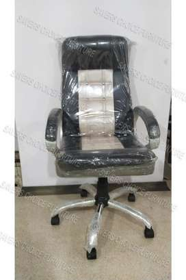 Office Chair In Black And Cream Colour