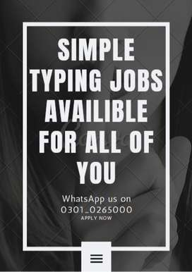 Get real payment online by doing simple typing jobs here available