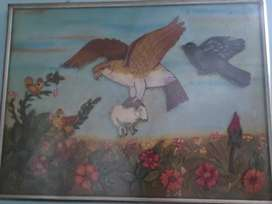 Beautiful handmade large wall painting of nature