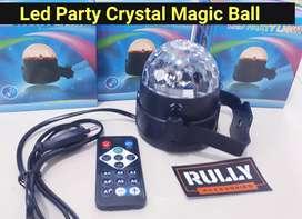Lampu Disco Party Disko Led Crystal Magig Ball 7 warna + remot