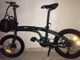 Sepeda lipat Evergreen EG-9 alloy 2x9 speed,20 inch