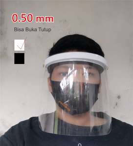 Face Shield Mika 0,50mm Pelindung Wajah Bisa Buka Tutup