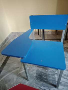 Wooden School Chairs with steel frame