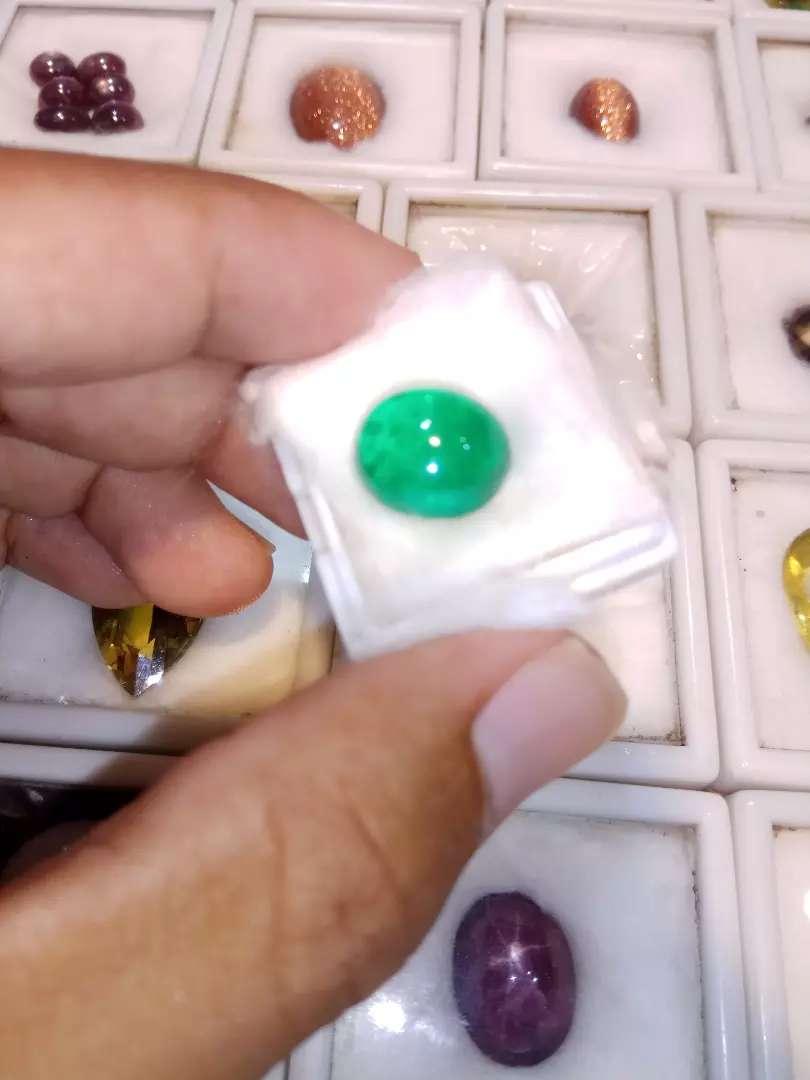 Batu zambrud natural oval no cutting 0