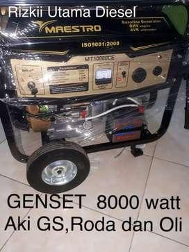 Genset bensin 8000 watt plus Aki GS