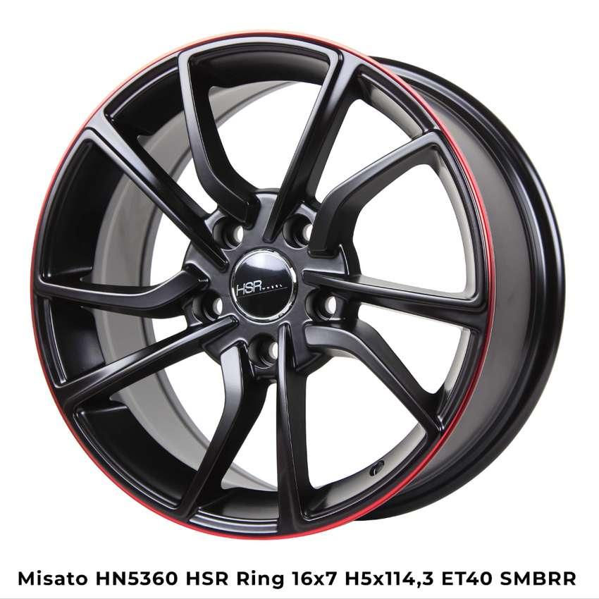 Velg selasa MISATO 10613 HSR R16X7 H4x100 ET43 BK/RED 0