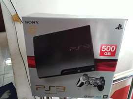 Ps3 slim 500gb Mulus Pisaan full 100 game lkp 2 DS3 wirless