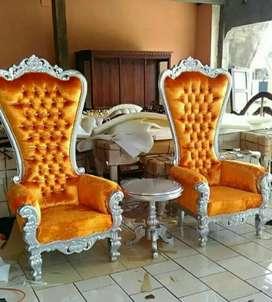 Set sofa Konsul Sahrini ukir Jepara mewah