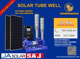 22 KW Solar Energy System for Tubewell Pumping.