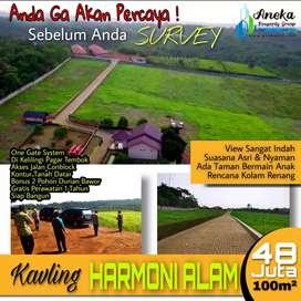 Dijual Tanah Kavling 300m2 Di Bogor Timur Dengan One Gate System