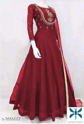 Designer Semi Stitched Suits & Dress Materials