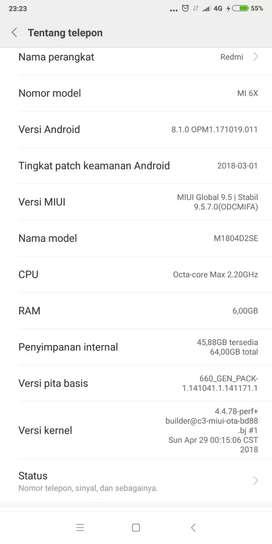 Dijual Xiaomi mi 6x 6/64