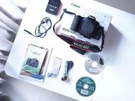 Canon 60D, fullset mulus, bisa untuk vlog. Harga bersahabat