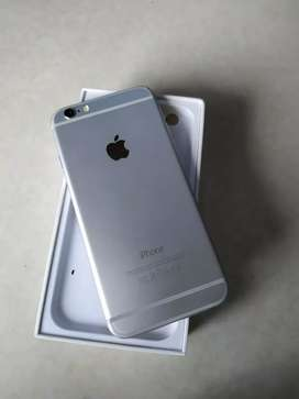 IPhone 6 64 GB warna silver ex ibox