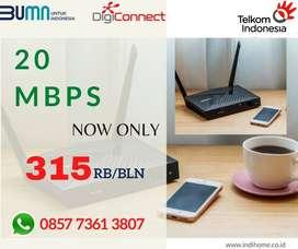 WIFI 2P DENGAN TV ATAU TELEPON 20 MBPS PASANG SEKARANG