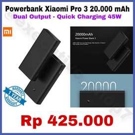 Powerbank 20.000mAh Pro 3 Original Quick Charging Dual Port USB READY