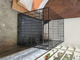 Rarely used amazon basics dog crate medum size