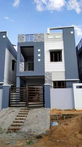Ready To Occupy Duplex House For Sale At Mallampet Near ORR , 85lacs