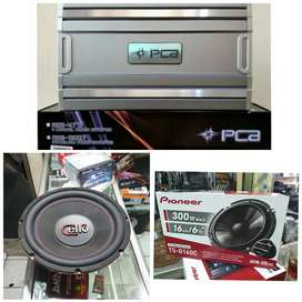 Power PCA 4 Channel & Subwoofer Cello 12 inch & Split Pioneer 2 way
