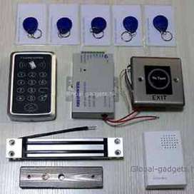 electric access control door lock system with rfid face finger