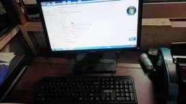 computer setup and computer table