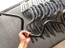 stang minion hitam model brompton sepeda lipat