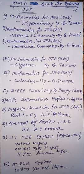 Study Materials for JEE MAIN & ADV