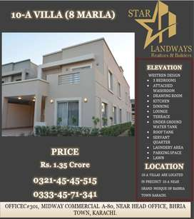 8 MARLA BEAUTIFUL WELL DESIGNED P10-A VILLA AVAILABLE FOR SAL