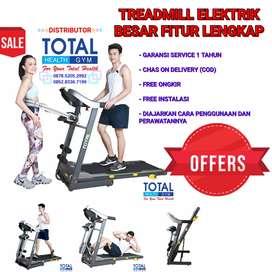Treadmill Elektrik Fitur Lengkap Murah Harga Distributor Garansi