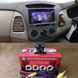 Double Din TV plus kamera buat Toyota Innova