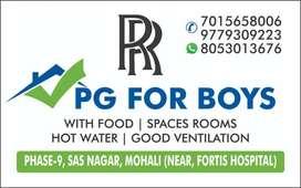 Pg for boy & girl  delicious food, good ventilation,