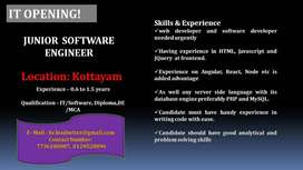 JUNIOR  SOFTWARE ENGINEER