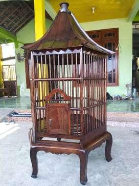 kandang ayam atau burung dari jati murah
