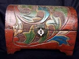 Box kayu jati vintage, Lebar 25cm tinggi 17cm