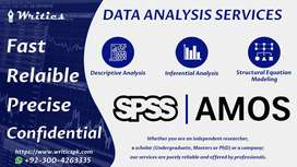 Data Analysis | SPSS | AMOS | Excel | SmartPLS