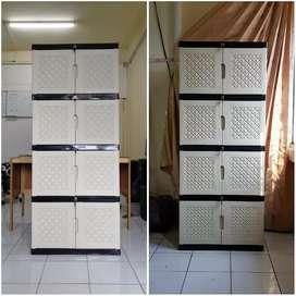 Gratis ongkir bjm - Lemari plastik 8 pintu / 4 rak dalam jombo