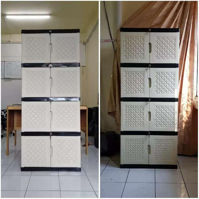 Gratis ongkir bjm - Lemari plastik 8 pintu / 4 rak dalam jombo 0