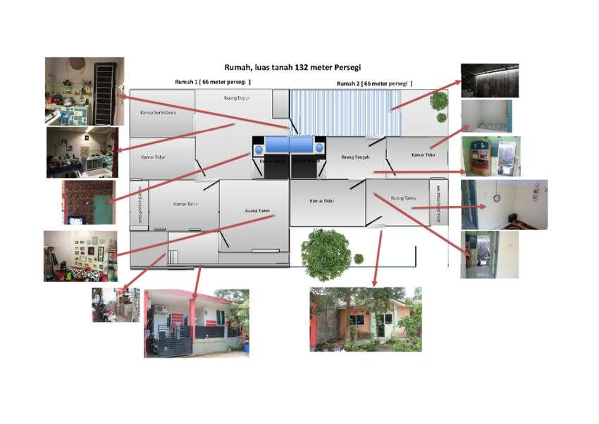 Jual Murah Rumah Deret 2, luas 132 m2  - Edisi Balik Kampung 0