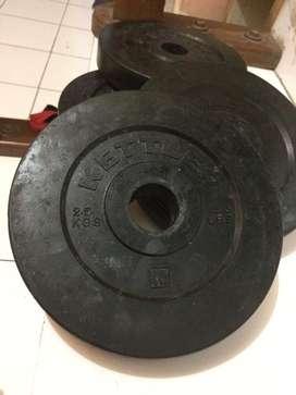 10KG Kettler Rubberized Weigh Plate