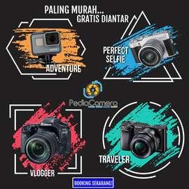 Sewa, Rental Kamera / Mirrorless / DSLR / Gopro / Drone Gratis Diantar