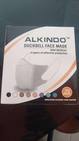Masker Alkindo Garis Putih hidung