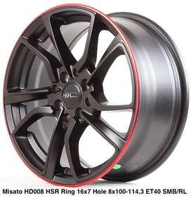 Velg Datsun Go tipe MISATO HD008 HSR R16X7 H8X100-114,3 ET40 MB/RL