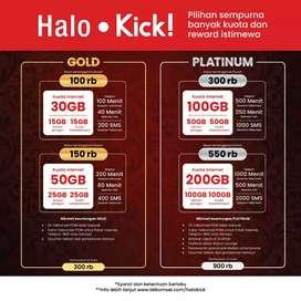 Halo kick gold 100rb kuota 30Gb