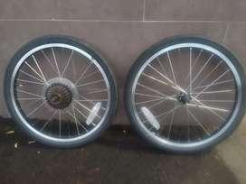 Wheelset dahon ring 20 , 7 speed + ban original dahoon glo vybe 7
