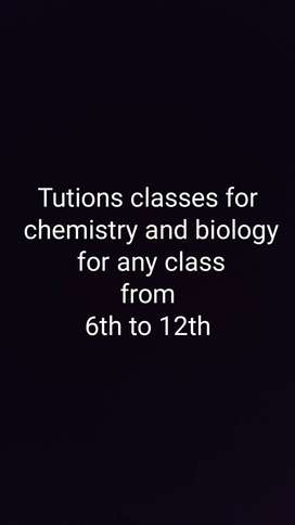 Chemistry and biology tutions classes